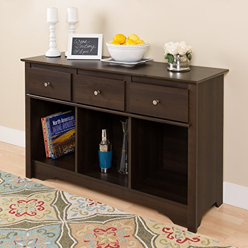 Espresso Living Room Console (Console In Furniture compare prices)