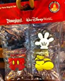 Disney Park Mickey Mouse Body Parts Vinyl Magnet Set of 4 NEW