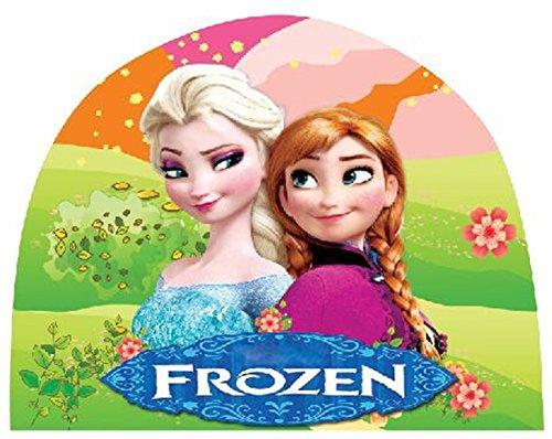 Frozen Queen Elsa & Anna Girls Kids Swimming Caps Hat New Fit for 4-12 Years - 1
