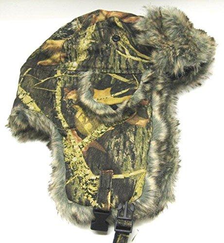 Dakota Dan Trooper Ear Flap Cap w/ Faux Fur Lining Hat (Camo Green/Brown)