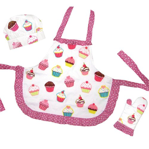 Sassafras The Little Cook: Ruffled Cupcake Apron Set Kitchenware