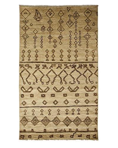 Darya Rugs Moroccan Oriental Rug, Ivory, 4' 10 x 8' 1