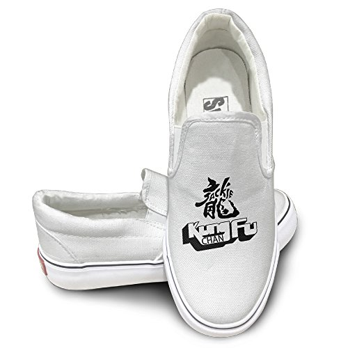 CYANY Jackie Honorary Chan Os Car Kung Fu Action Actor Unisex Footwall Canvas Shoes Baseball White