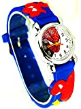 Spiderman 3D Cartoon Children Boys Kids Quartz Wrist Watch Gift