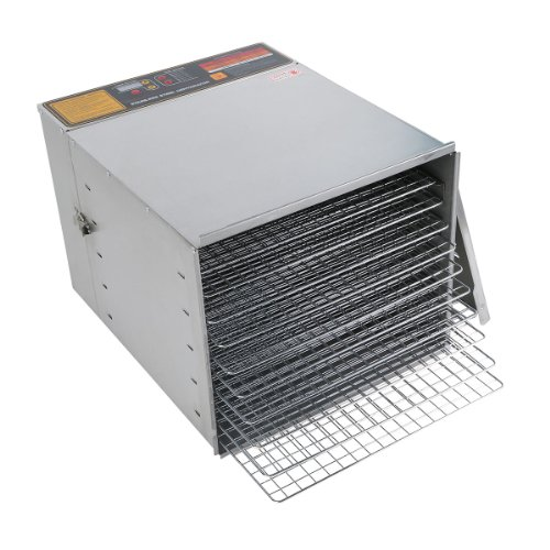 New Tc Digital Commercial Stainless Steel 10 Tray Fruit Jerky Sausage Food Dehydrator With 12-Hour Timer front-489314