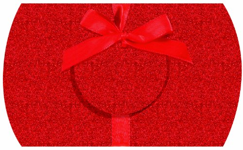 The Gift Wrap Company 12 Count Gift Card Pouches, Glitter Red front-1047376