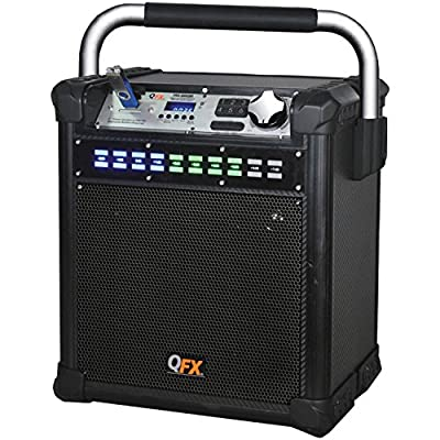 Qfx Pbx-508100 Black Bluetooth(R) All-Weather Party Speaker (Black) 4.00In. X 16.00In. X 13.00In.