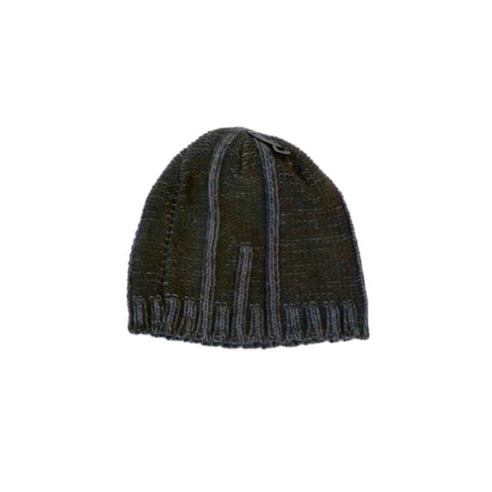 b4d343ca5ba Baileys Point Mens Khaki Olive Green Ribbed Beanie Stocking Cap Winter Hat