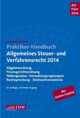 praktiker-handbuch-allgemeines-steuer-und-verfahrensrecht-2014-abgabenordnung-finanzgerichtsordnung-