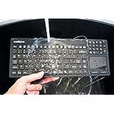 Professional Grade Waterproof Keyboard With Touchpad (USB) (Black)   KBWKRC106T-BK