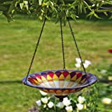 Tiffany-Inspired Petal Hanging Birdbath