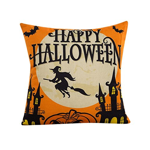 Read About Creazy® 2016 Halloween Sofa Bed Home Decor Pillow Case Cushion Cover (D)