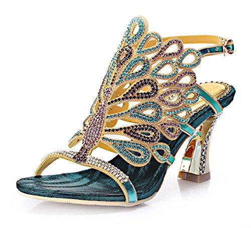 vibur-seven-womens-peacock-rhinestones-blue-sheepskin-wide-heeled-sandals-5-bm-us