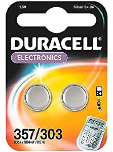 Duracell Electronics D357/303 1.5 V Silver Oxide Button Cell Batteries - 10 x 2-Pack (20 Batteries)