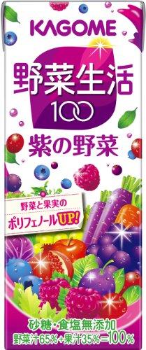 Kagome vegetable life 100 purple vegetables 200ml×24 book