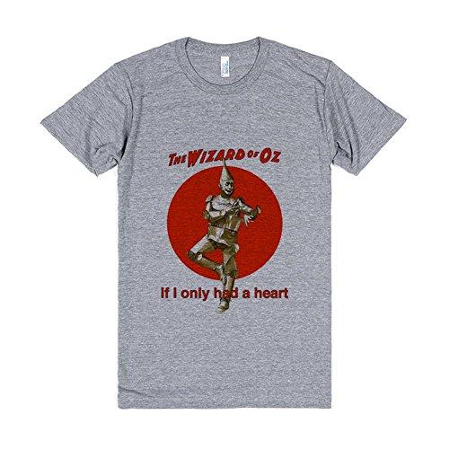[Wizard of Oz Tin Man | L Light Heathered Grey T-Shirt] (Tin Man On Wizard Of Oz)
