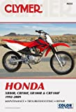img - for Clymer Honda XR80R, CRF80F, XR100R & CRF100F 1992-2009 (Clymer Motorcycle Repair) book / textbook / text book