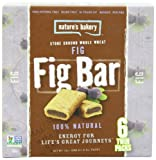 Natures Bakery Whole Wheat Fig Bar, 6 Count - 2 oz (Pack of 12)