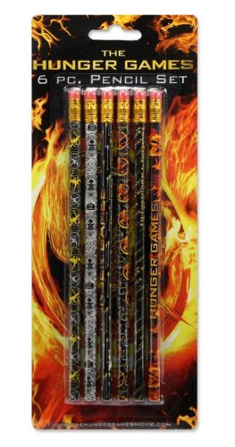 The Hunger Games Movie - Pencil Set 6 pc - 1