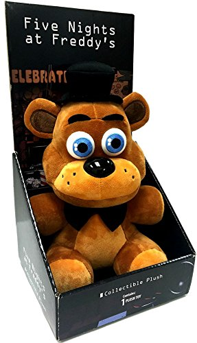 """Officially Licensed Five Nights At Freddy's 10"""" Boxed Freddy Fazbear Plush Toy by SANSHEE"""