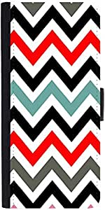 Snoogg Frequency Multicolour Graphic Snap On Hard Back Leather + Pc Flip Cove...