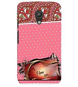 Fuson 3D Printed Love Designer back case cover for Motorola Moto G2 - D4129