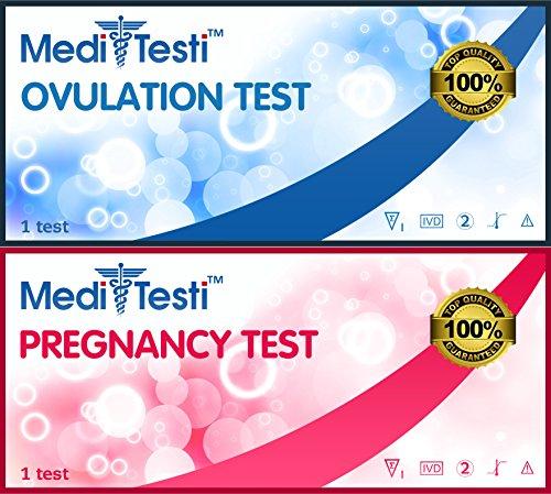 buy MediTesti™ Ovulation & Pregnancy Test - Includes 50 Super Sensitive Ovulation Test Strips (LH Test) & 25 Early Pregnancy Test Strips (hCG Test) for sale