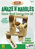POOF-Slinky 4600M Ideal Amaze N Marbles Classic Wood Construction Set with Sealed Storage Box, 60-Pieces