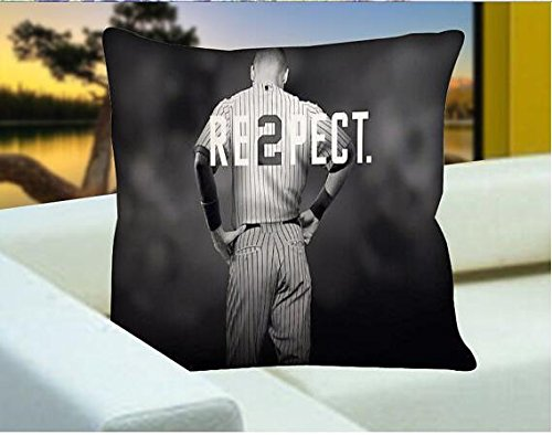 Xusuzhi Respect Derek Jeter Square , Pillow Case , Pillow Cover , Design Pillow , Decoration , Bedroom. front-701144