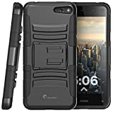 i-Blason Amazon Fire Phone Case - Prime Series Dual Layer Holster Case with Kickstand and Locking Belt Swivel Clip (Black)