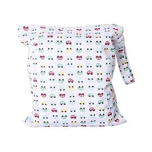 Bebé Bolsa de Pañales de Tela Impermeable de Color Blanco marca Genérico - BebeHogar.com