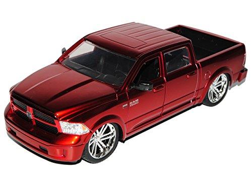 dodge-ram-1500-pick-up-metallic-rot-4-generation-ab-2009-ab-facelift-2014-1-24-jada-modell-auto