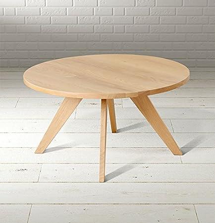 MY-Furniture - EIRIK - Mesa de centro redonda en madera de roble macizo