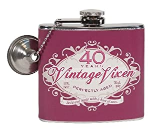 Laid Back CF12050 40th Birthday Vintage Vixen Flask, 5-Ounce