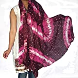 Cotton Dupatta Womens Long Scarf Clothing Accessory from India 92 x 213 cmsby DakshCraft