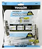 "Toggler 50425 Toggle Anchor BB Hollow Wall Anchors 1/4""-20"" Pack Of 10"