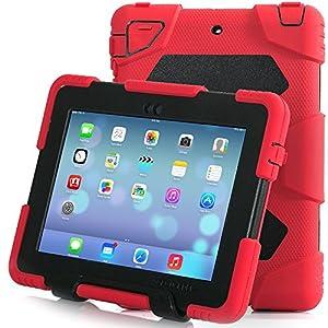 Ipad Case,Ipad Mini 2 Case,Ipad Mini 3 Case,ACEGUARDER® ipad mini case Case for kids Rainproof Shockproof Anti-Dirt Drop Resistance Case(red-black) by ACEGUARDER apple ipad mini 2/3/4 case iphone 6 iphone 4s 5 5c 5s 6s 6 plus cases covers digitizer defen