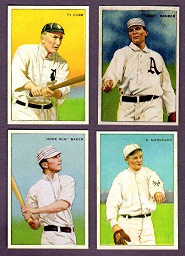 Series of Champions 1912 T227 Reprint Set w/ Honest Long Cut Back Includes Ty Cobb, Home Run Baker, Chief Bender, Rube Marquard**