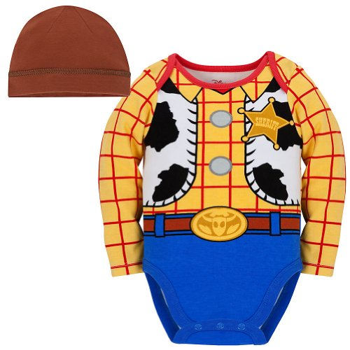 Disney Store Toy Story Woody Onesie Halloween Costume Bodysuit Size 3-6 Months