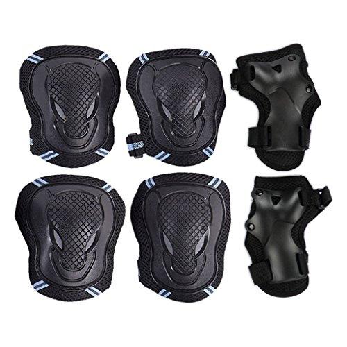 kit-de-protections-6-pieces-3-paires-protege-paume-coudiere-genouillere-de-skateboardvelorollerpatin