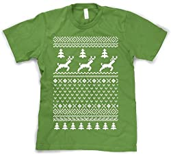 Ugly Christmas Sweater T Shirt Funny Holiday Shirts by Crazy Dog Tshirts
