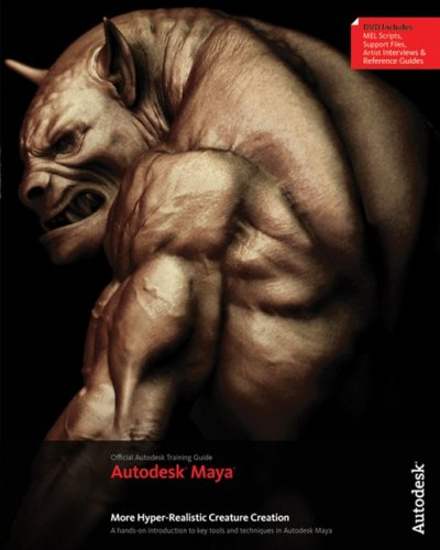 3D Book More Autodesk Maya Hyper-Realistic Creature Creation