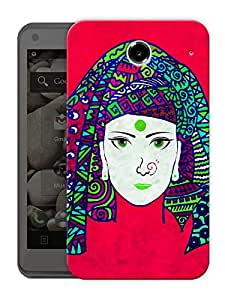 """Indian Tribal Woman Beautiful Printed Designer Mobile Back Cover For """"Lenovo S880"""" By Humor Gang (3D, Matte Finish, Premium Quality, Protective Snap On Slim Hard Phone Case, Multi Color)"""