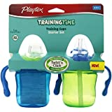 Playtex Training Time Starter Set Cups, 6 Ounce, 2 Count (Colors May Vary)