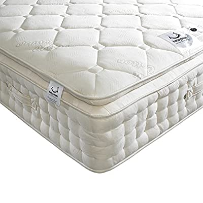 Happy Beds Dorchester 2000 Pocket Sprung Organic Pillow Top Mattress