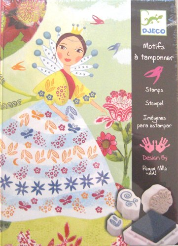 Djeco Stamp Art Sets - Flower Maidens Stamp Set