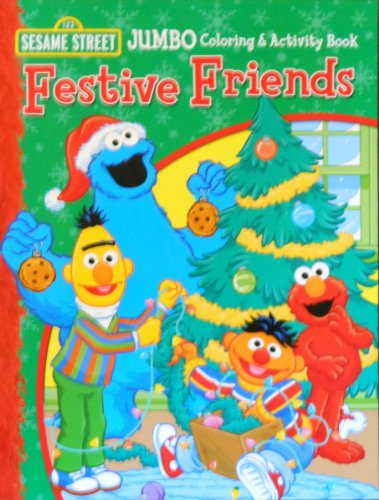 Sesame Street Festive Friends Coloring and Activity Book - 1