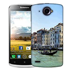 Snoogg White Houses Designer Protective Phone Back Case Cover For Lenovo S920