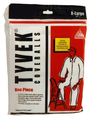 Trimaco Painter's Tyvek HD Heavy-Duty Coveralls, White, X-Large,14123