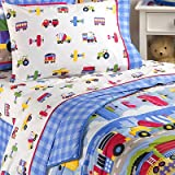 Olive Kids - Trains, Planes and Trucks Full Size Comforter and Sheet Set